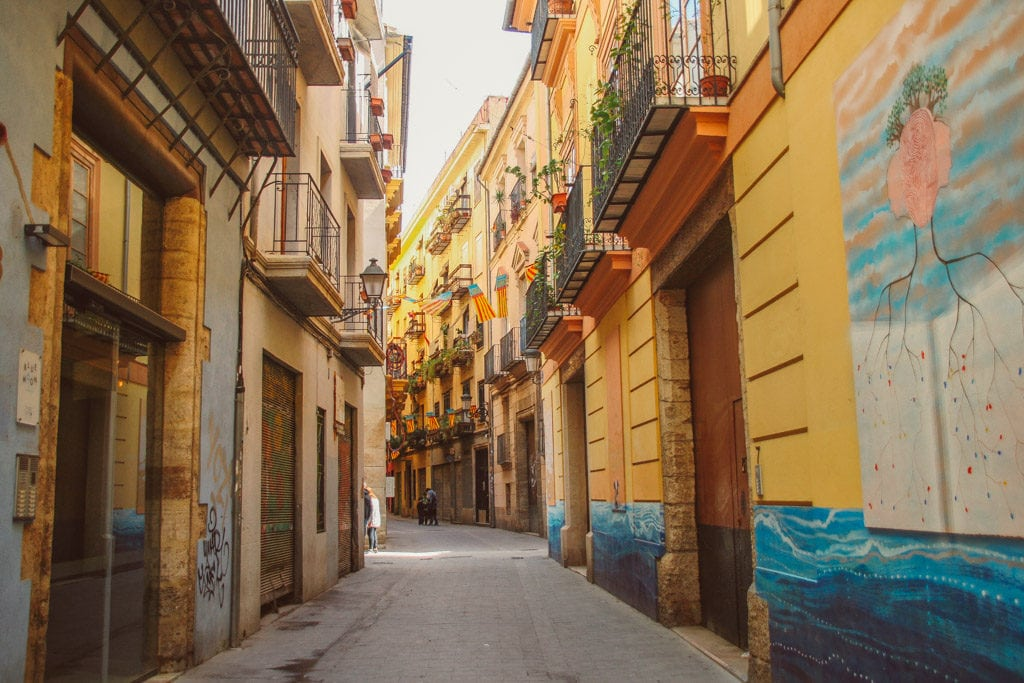 Valencia old city - little alley