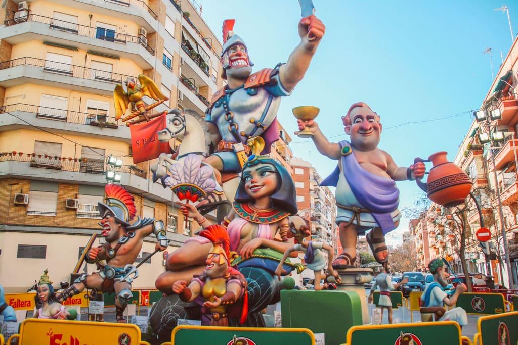 Las Fallas festival - a free festival in Valencia