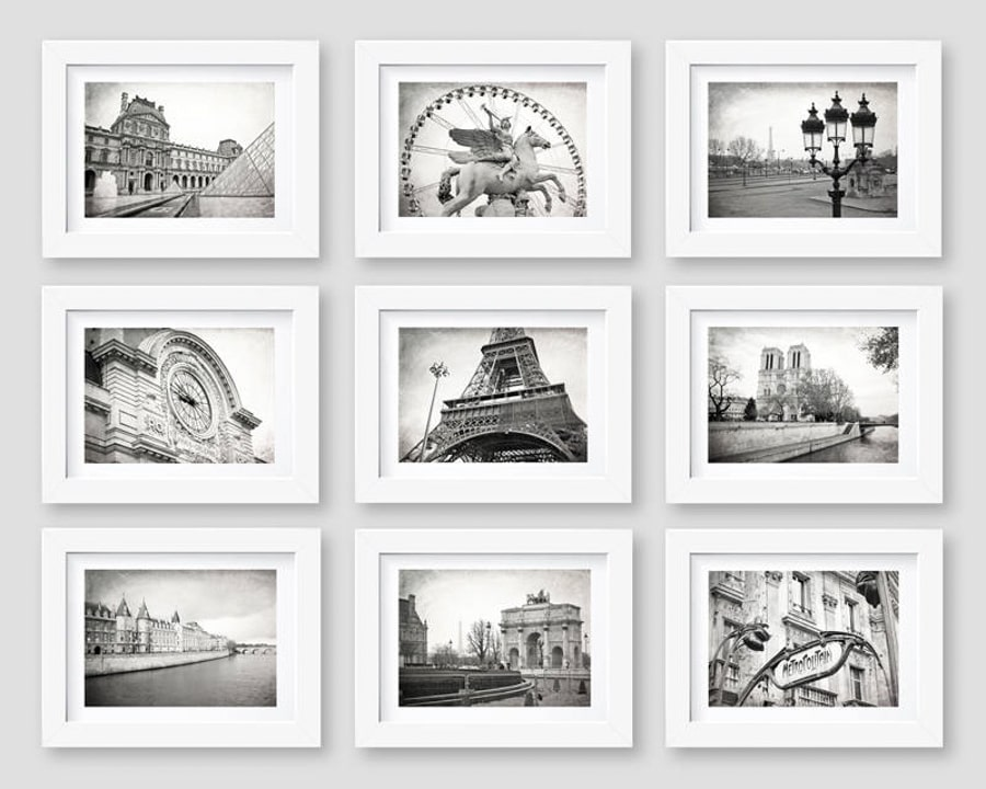 Paris photo set as a Paris related gift for her