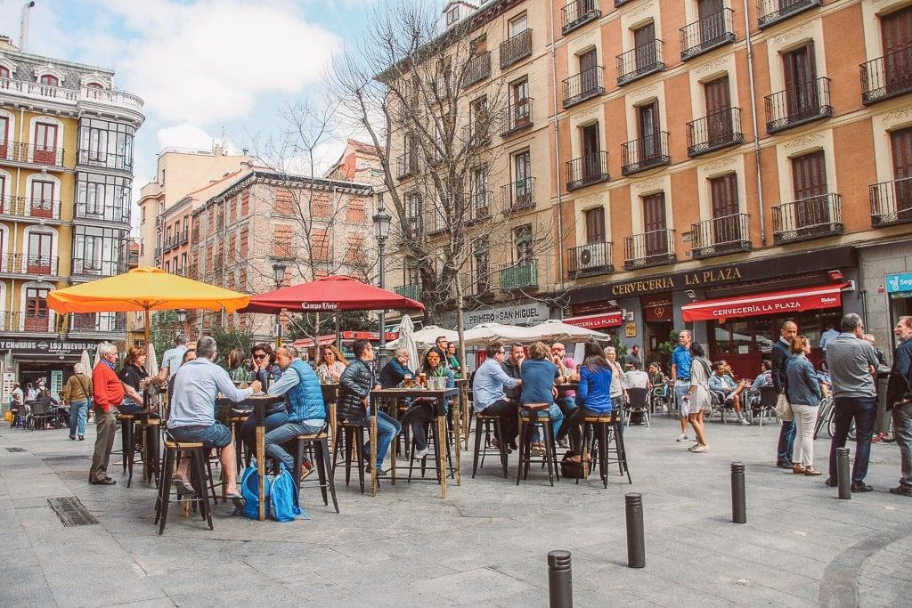 a public square in Madrid