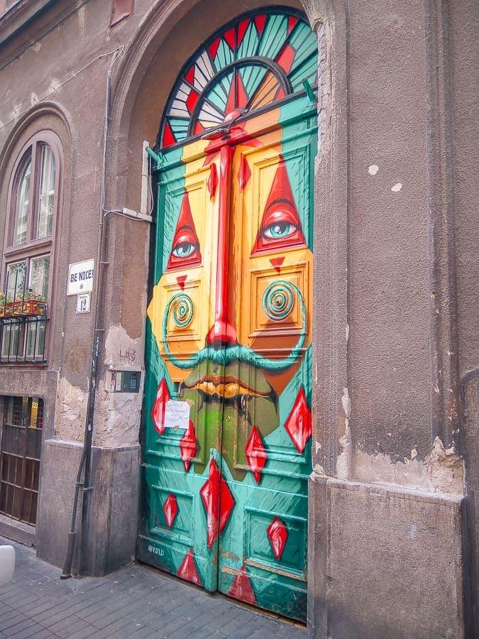colorful door in budapest