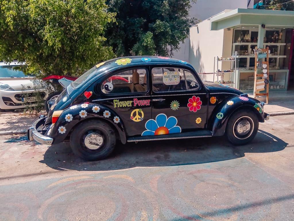 hippie car in Matal Crete