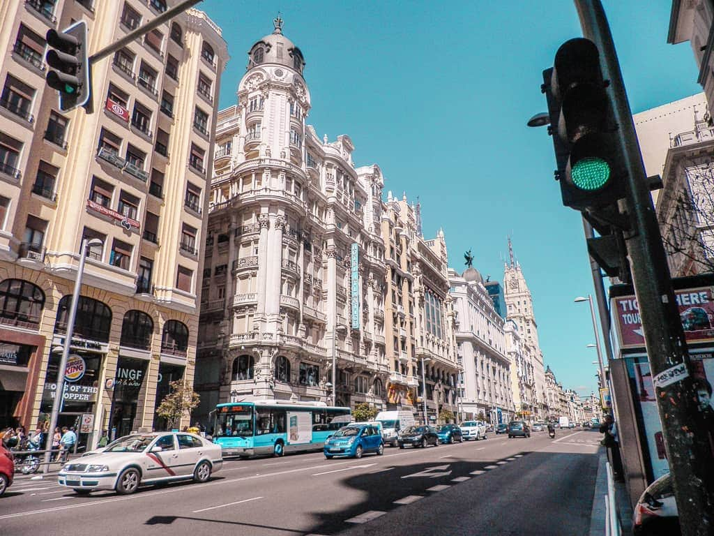 what to do in Madrid for 2 days - Gran Via