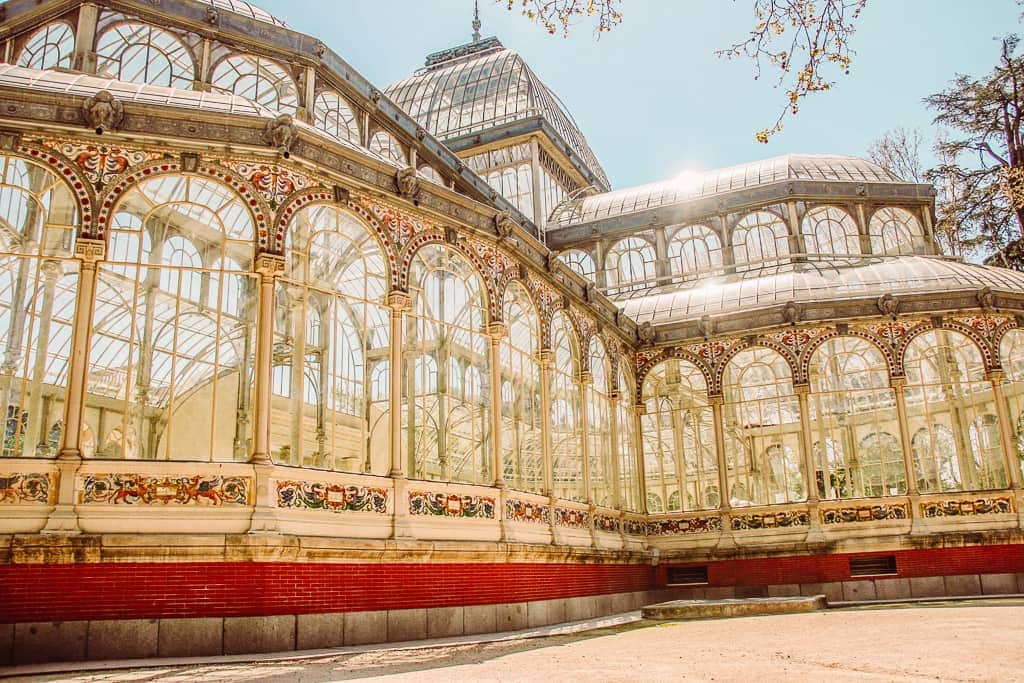 Madrid itinerary 2 days - Palacio del Cristal