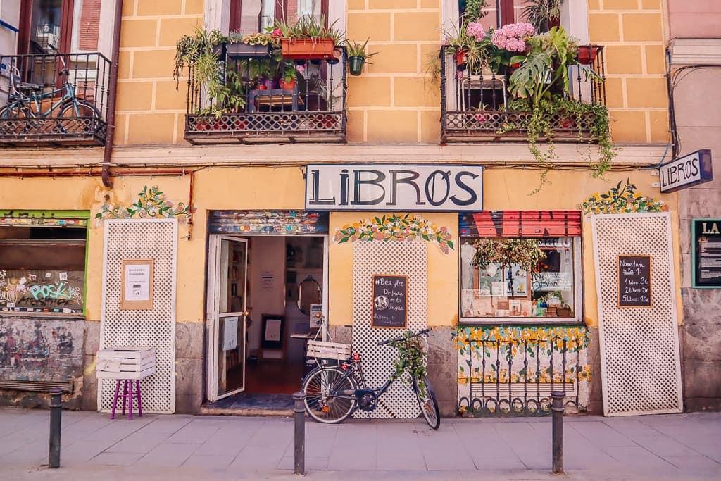 bookshop facade in Madrid