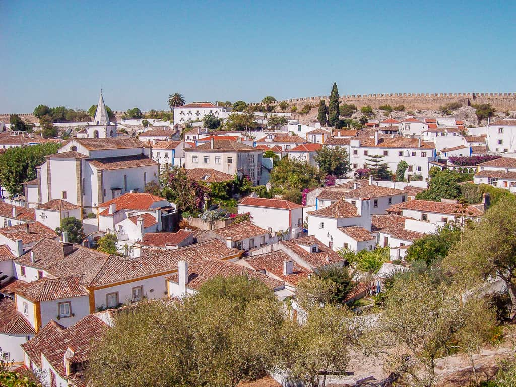 Obidos Portugal from above