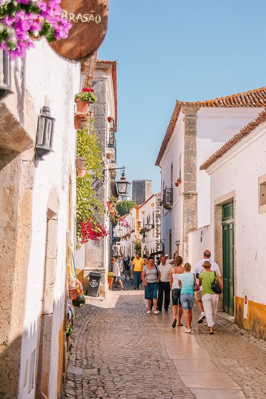 an alley in Obidos