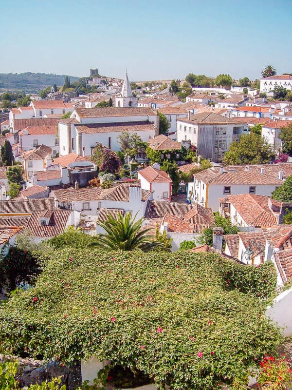 roofs of obidos portugal