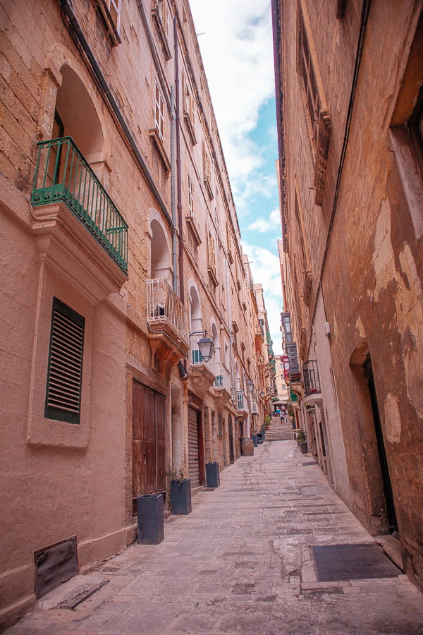 Malta country images - a street in Valletta
