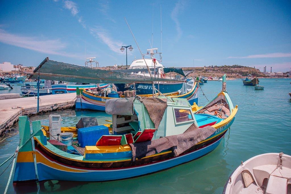 Malta pictures - colorful Maltese boat