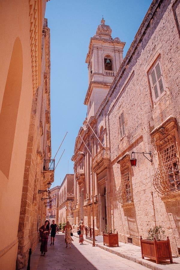 main street in Mdina