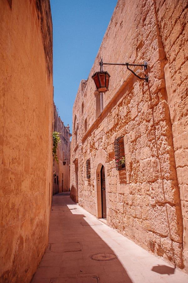 medieval street in Mdina