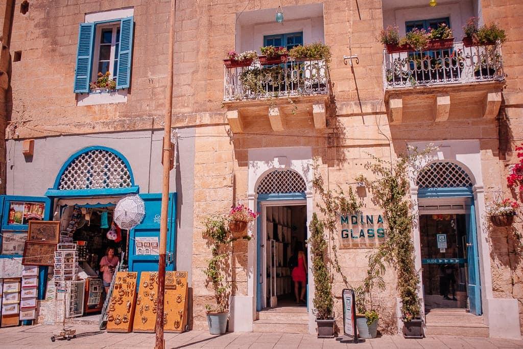 shop facade in Mdina