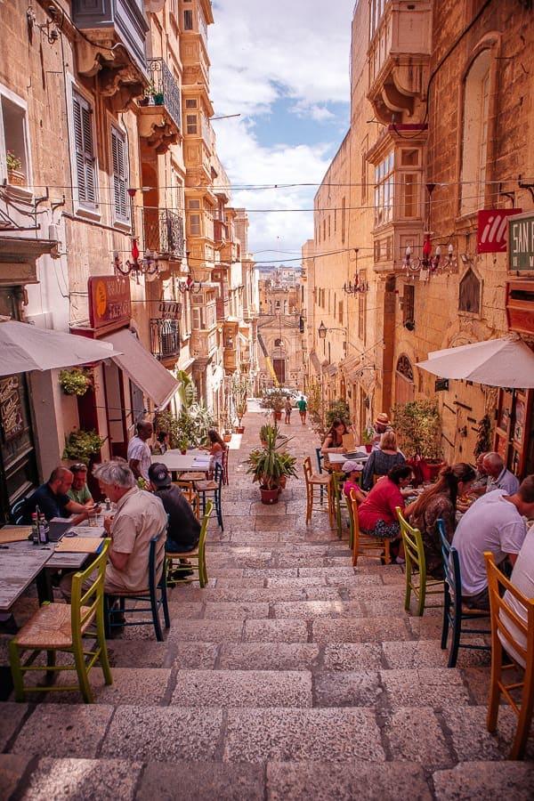 the beautiful streets of Valletta Malta