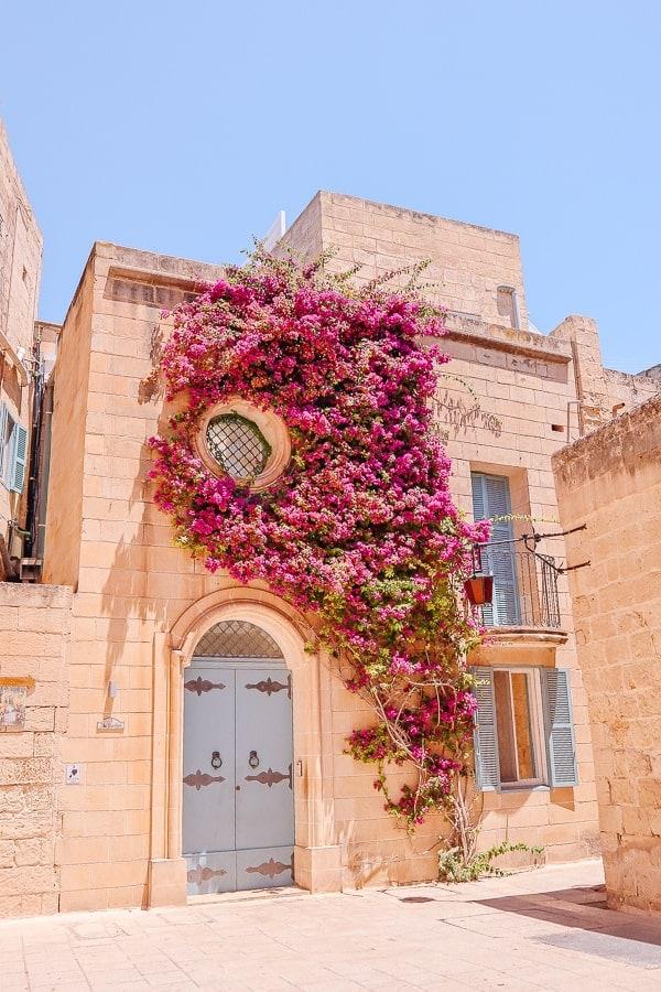 Malta 3 days - facade in Mdina