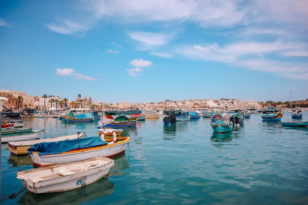malta 3 days itinerary - fishing boats
