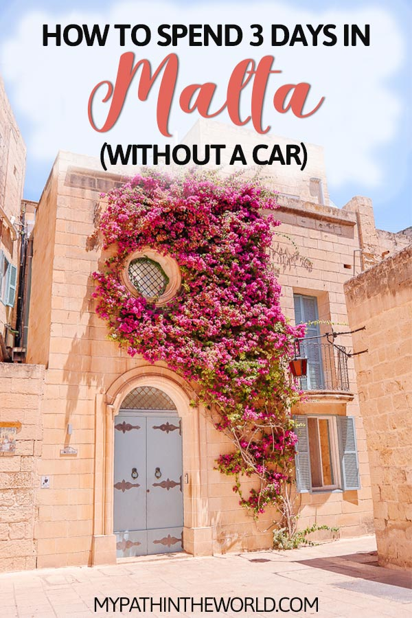 Looking for things to do in 3 days in Malta? Here's the best Malta travel itinerary that doesn't require hiring a car!
