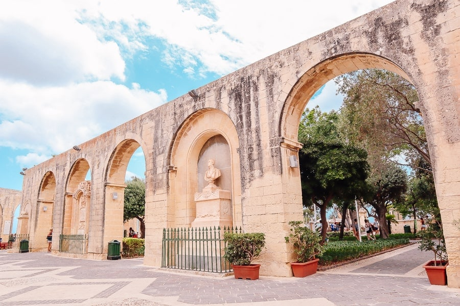 Valletta upper barraka gardens