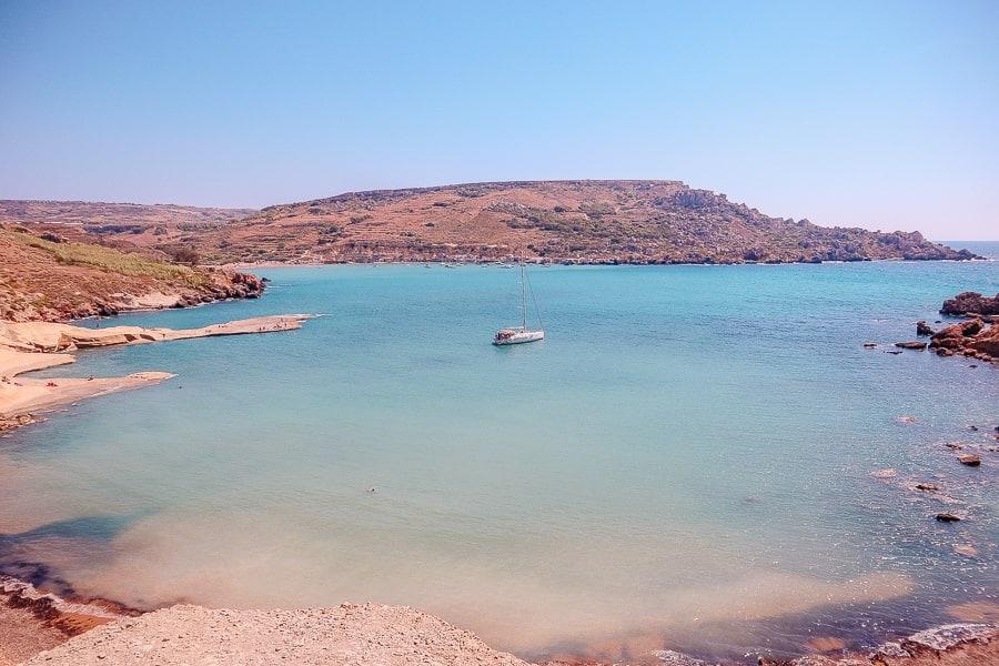 tips Malta - a beach in malta