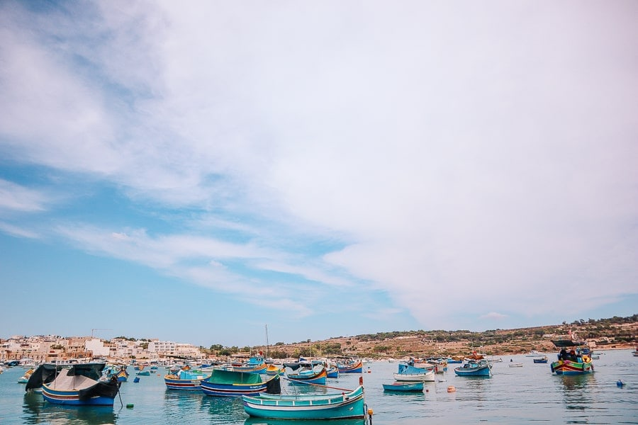 tips for visiting malta - marsaxlokk fishing village
