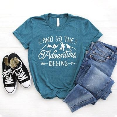 travel inspired tshirt