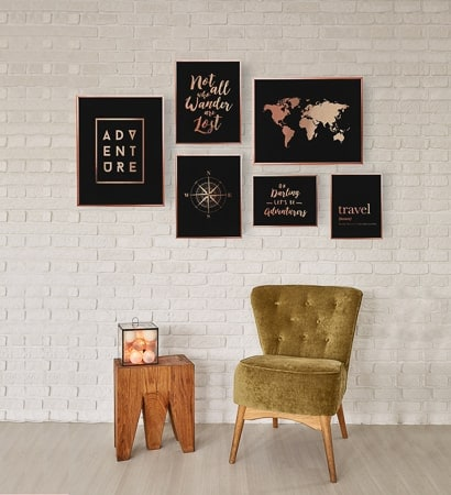 travel themed gifts - wall art