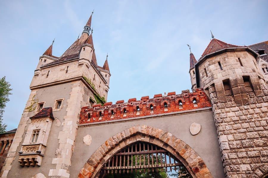Vajdahunyad Castle front