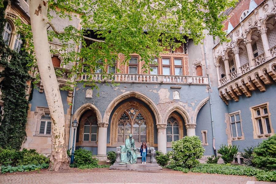 Vajdahunyad Castle courtyard