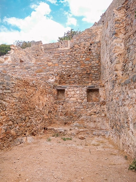 ruins on Spinalonga island