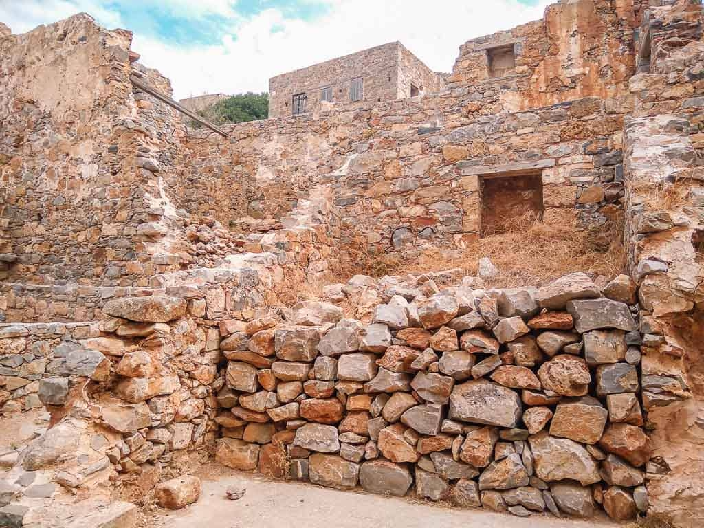 The abandoned Spinalonga island