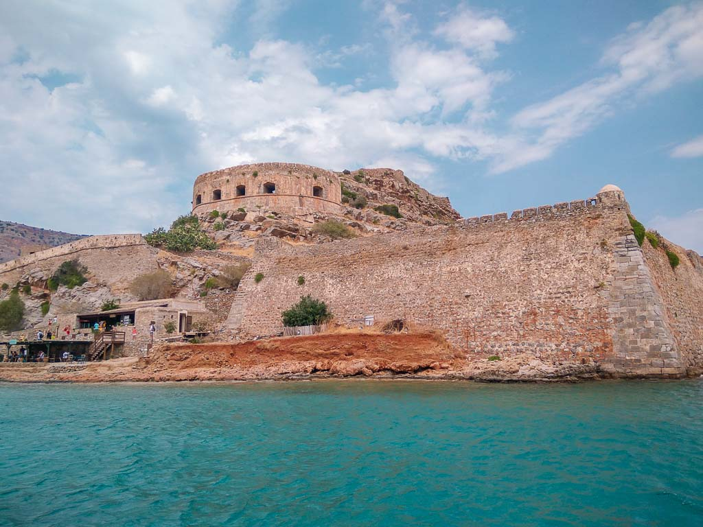 Views of Spinalonga from the boat