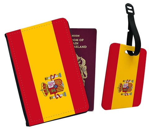 Spanish gift ideas - passport cover and luggage tag