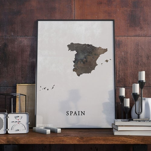 Spain themed wall art