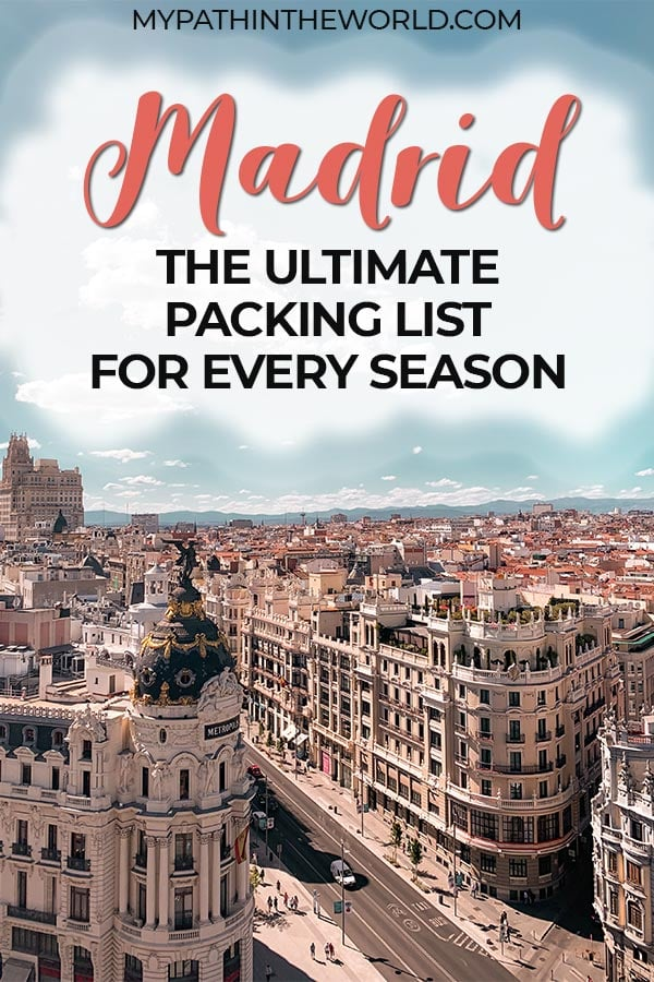 Wondering what to pack for Madrid, Spain? Here's the ultimate Madrid packing list for spring, summer, fall, and winter