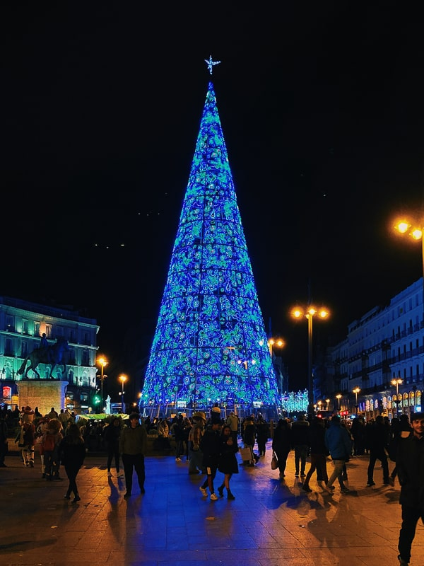 Christmas tree in Madrid
