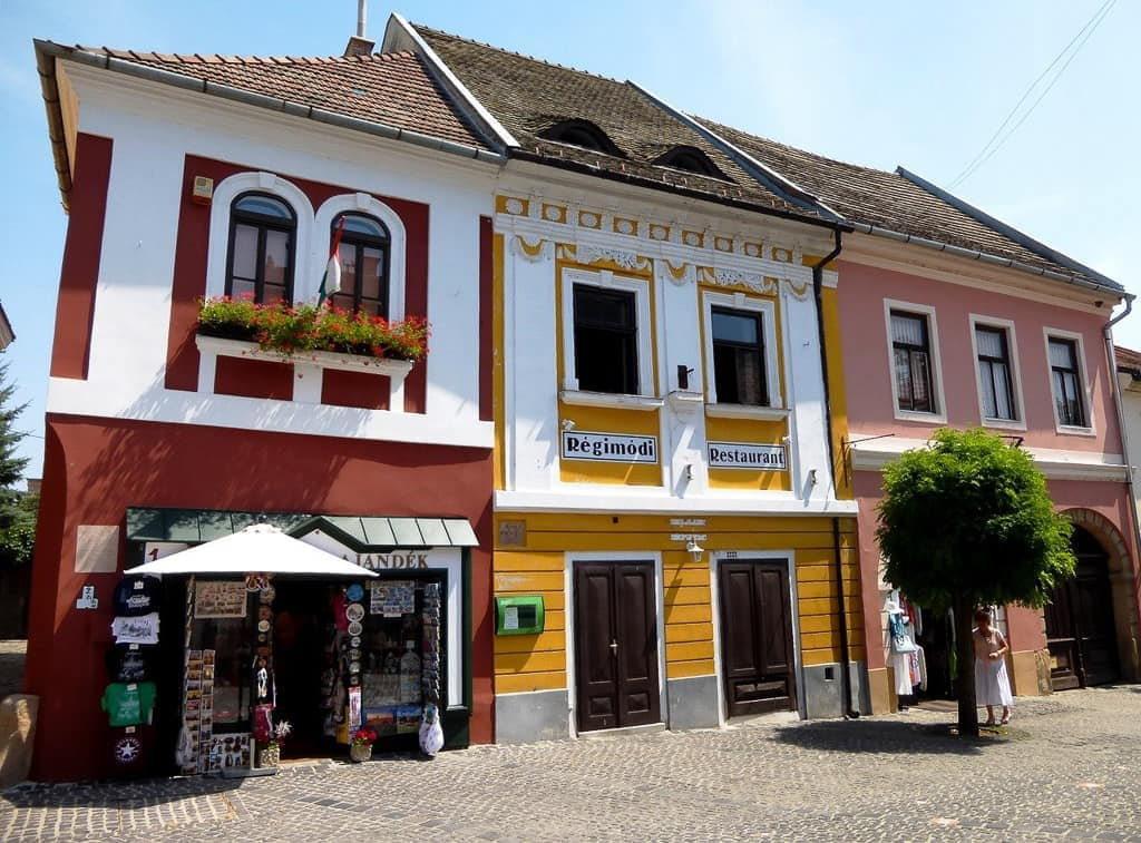 colorful buildings in Szentendre Hungary