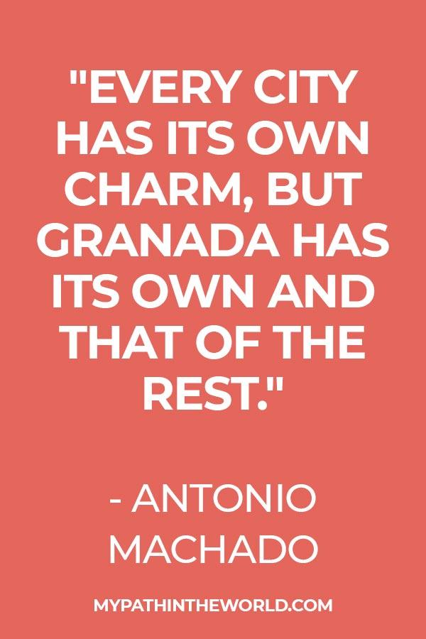 quote about Granda by Antonio Machado