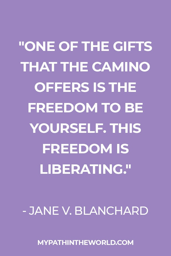 Quote about the Camino by Jane Blanchard