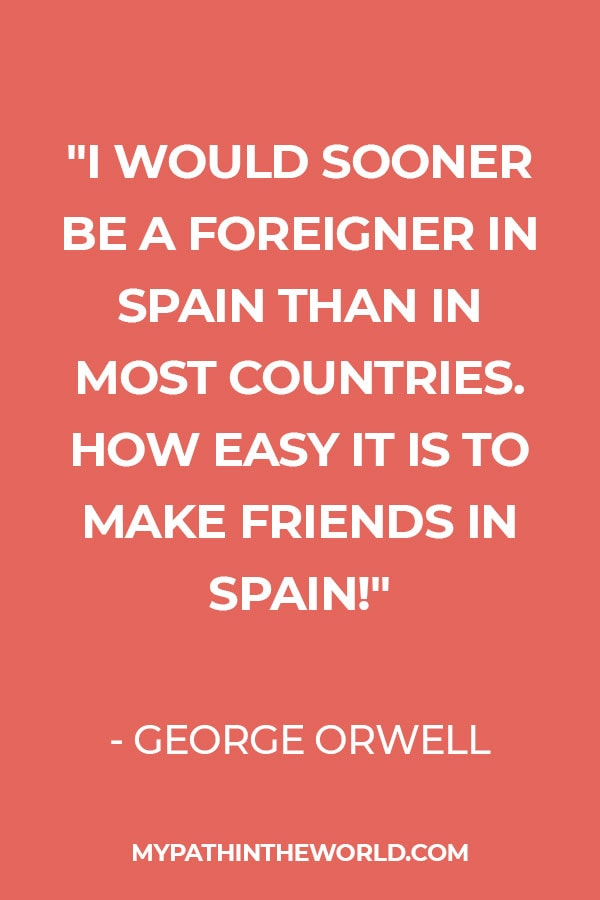 quote about Spain by George Orwell