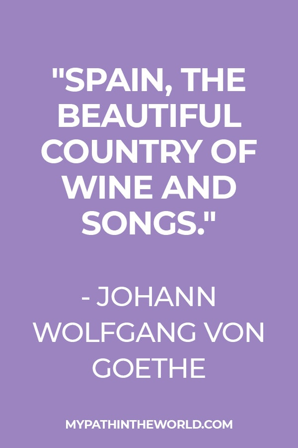 quote about Spain by Goethe