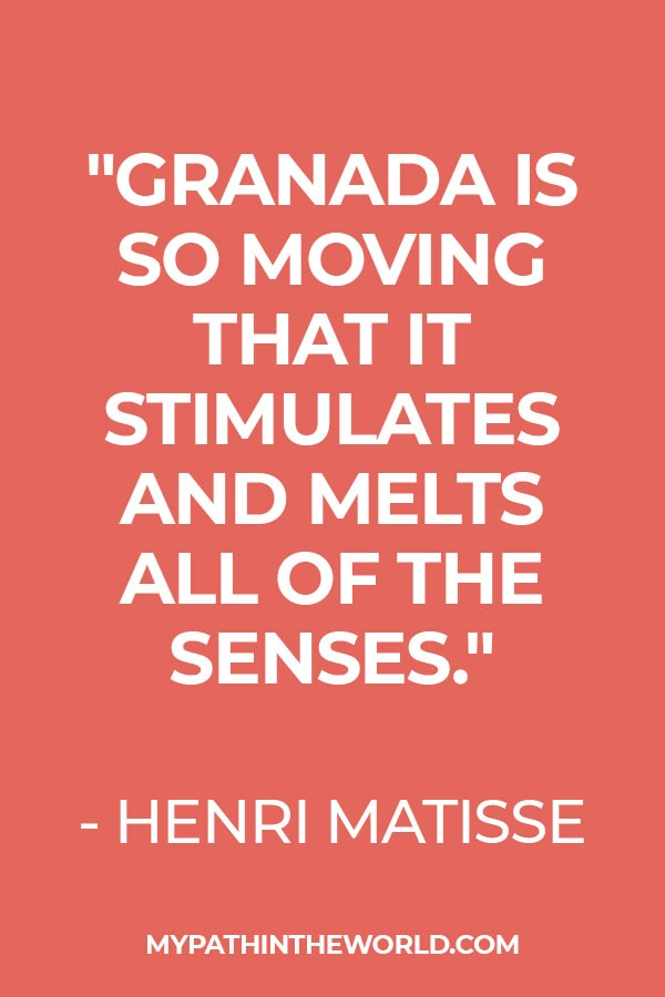 Quote about Granada by Henri Matisse
