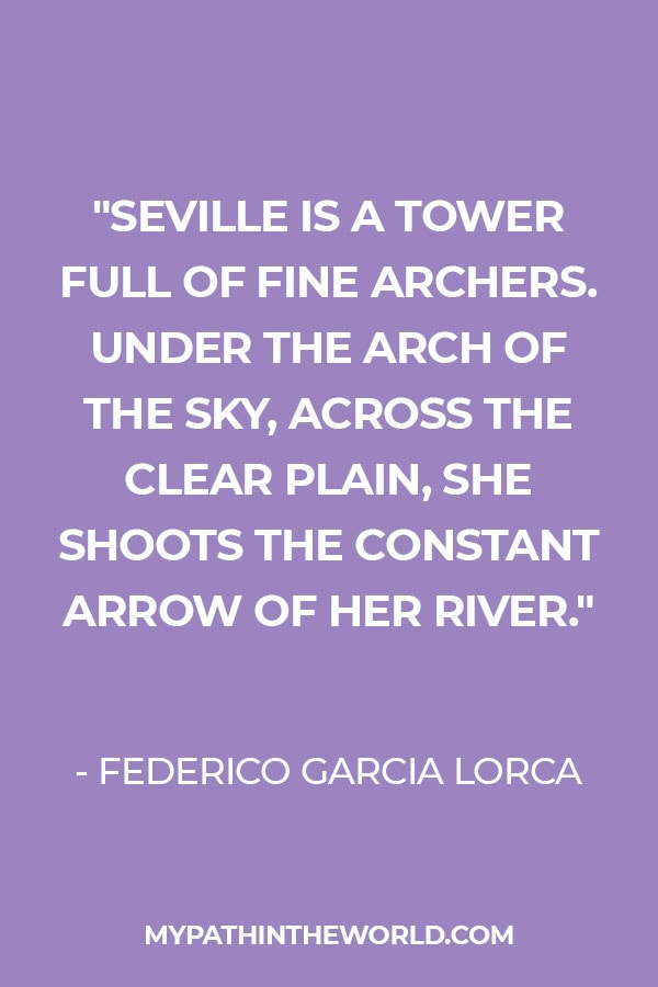 Quote about Seville by Lorca