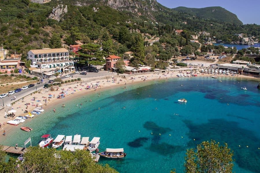 Corfu beach from above