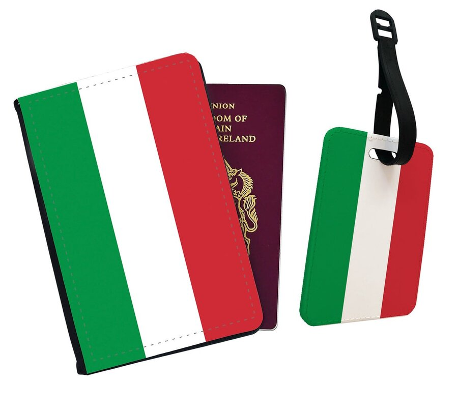 Italian inspired gifts - passport cover and luggage tag