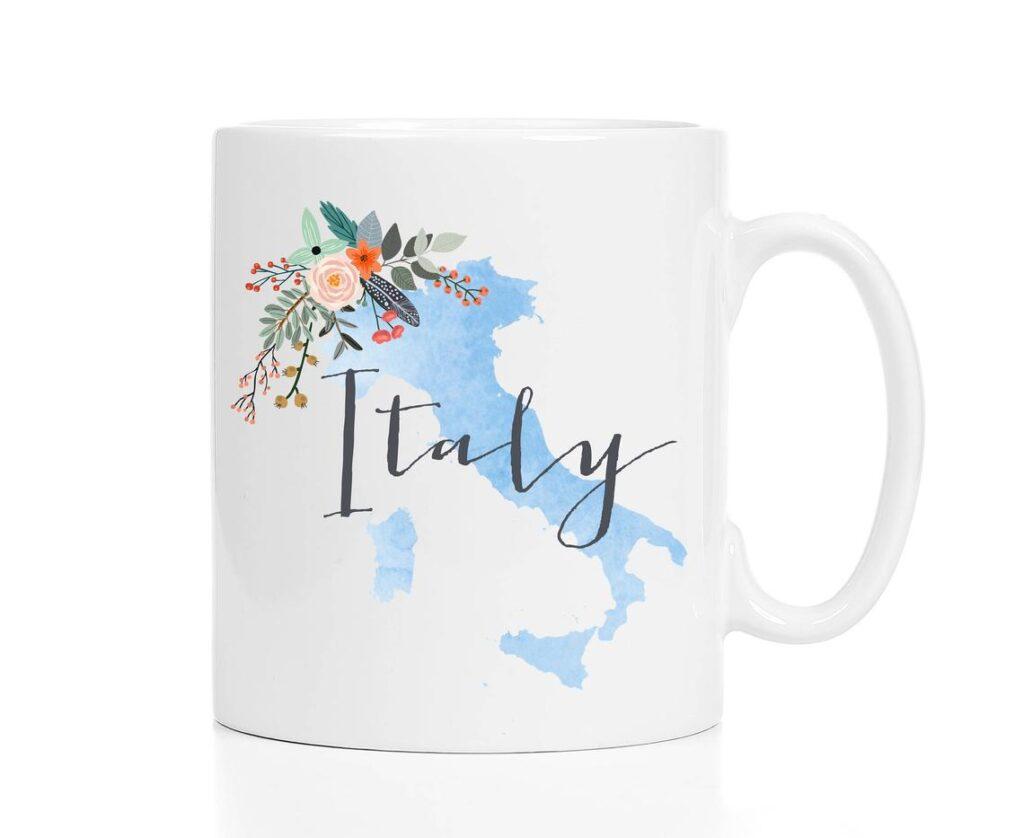 Italy watercolor coffee mug