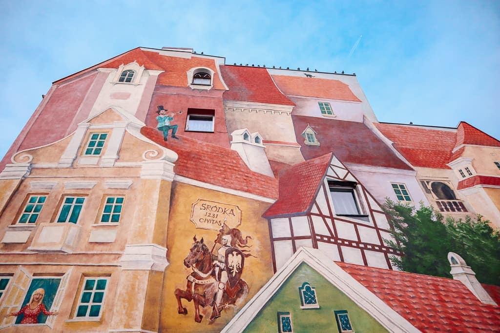 3D mural in Poznan