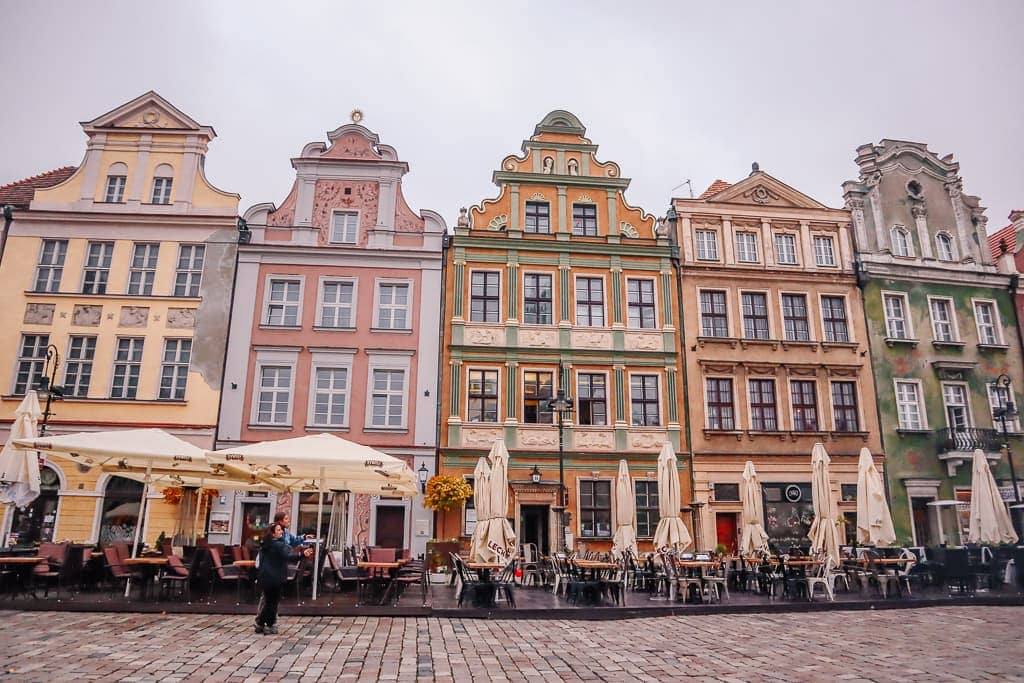 colorful buildings in Poznan Poland
